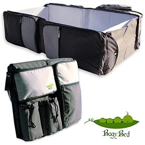 ReallyGo 3 in 1 Portable Travel Bed, Diaper Bag & diaper changing station