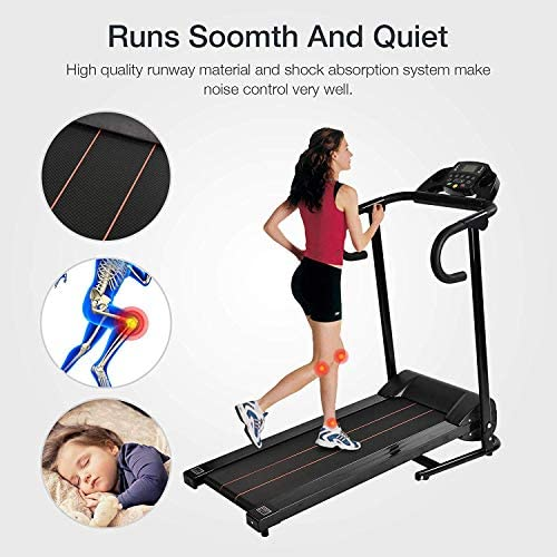 Murtisol 1100W Folding Treadmill Good for Home/Apartment Fitness Compact Electric Running Exercise Machine with Safe Handlebar 4