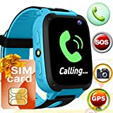 [SIM CARD INCLUDED]Smart Watch for School Boys Girls Children,GPS Touch Phone Wrist Watch Toys  Learning Toys Smartwatches Touchscreen Camera SOS Call, School Supplies Gift for Toddler Teen Age 3-12