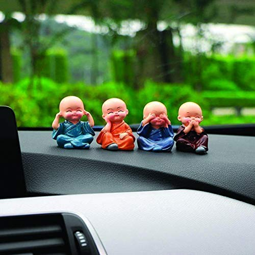 51dfgRlx2JL - Canton Set of 4 Beautiful Miniature Decorative Showpiece for Home, Office, Table, Car Decor ation (Cute Baby)