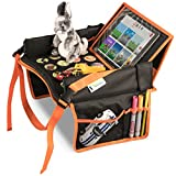 Kids Travel Tray for Toddler Car Seat | Toddler Car Seat Tray Organizer | Large ipad Holder A Road Trip Essential | Soft Padding, Waterproof, Food & Snack Lap Tray Carseat, Stroller, and High Chair