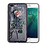 Phone Cases for iPhone 8 7 6 6s Plus Fitted Cases 3D Relief Roses Soft TPU Full Protect Back Cover Capa,Style 2,for iPhone 8