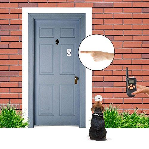 Asypets Wireless Doorbell Chime With Smart Pet Training Door Bell