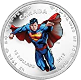 2013 CA Superman: Modern Day Superman - Silver 1/2 oz. Matte Proof Coin - Canada RCM - with all OGP and COA $20 Superb Gem Uncirculated