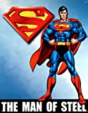 Superman Man of Steel Tin Sign , 12x16