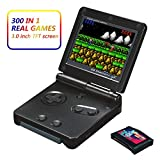 Xinguo Handheld Game Console, Portable Video Game 3 Inch HD Screen 300 Classic Games,Retro Game Console Can Play on TV, Good Gifts for Kids. (Black)
