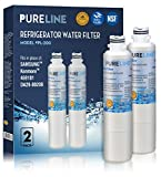 Samsung Water Filter DA29-00020B with Advanced Filtration. Also fits DA29-00020B DA29-0002B-1 HAF-CIN EXP KENMORE 46-9101 469101 9101 4609101000 - By PureLine (2 Pack)