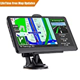 GPS Navigation for Cars, 7-inch Portable Car GPS Navigation System, Built-in 8GB-256MB Real Voice Turn Alarm Satellite Navigator,2019Newest Free Lifetime Map