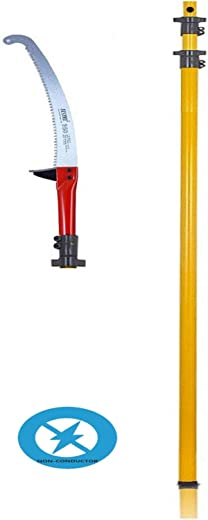 FESTEL Skytuch Frp Telescopic Pole with Tree Pruning Saw, 7.3 m/24ft