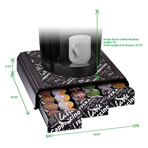 mind reader anchor coffee pack drawer for keurig vue packs keurig k cups nespresso capsules. Black Bedroom Furniture Sets. Home Design Ideas