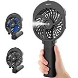 OPOLAR Misting Handheld Fan Foldable, Personal Small Desk Table Fan with USB Rechargeable Battery Operated Mini Portable Fan for Office Outdoor Household Traveling