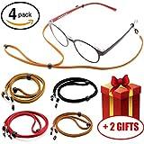 Premium Glasses Strap Chain for Men Women Kids [Pack of 4], Adjustable Eyeglass Holder String for Sports Reading, Never Lose Eyeglasses Again