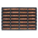FOOTMATTERS Ninamar Mud Scrubber Tray Mat – 24 x 16 inch