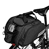 COTEetCI Bicycle Trunk Bag Multifunction Waterproof Pannier Bike Rear Seat Bag Cycling Cargo Carrier Saddle Rack Bag with Carrying Handle