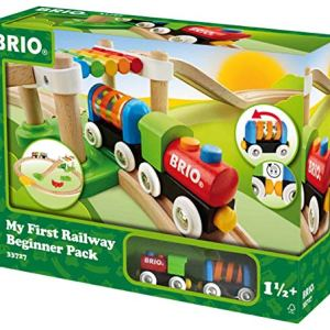 Brio My First Railway – 33727 Beginner Pack | Wooden Toy Train Set for Kids Age 18 Months and Up 51duJWQKOcL