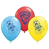 """Pioneer National Latex Superman 6 Count 12"""" Latex Balloons, Assorted"""