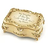 Bradford Exchange The Daughter Heirloom Porcelain Music Box with 22K Gold and Hand-Set Faux Jewels