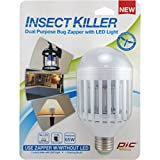 PIC IKC 9 Watt Warm White LED Light Bulb Insect Killer Carded