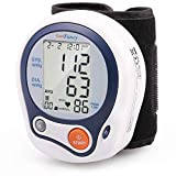 LotFancy Wrist Blood Pressure Monitor, Digital BP Monitor Cuff (5'-8'), 60 Memory for User, Digital Sphygmomanometer for Irregular Heartbeat Detection, Portable Case Included