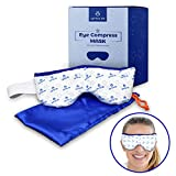 Eye Mask – Microwavable Compress Pad with Storage Pouch for Soothing Heat Therapy – Ultra Absorbent, Washable and Reusable – Treatment for Dry Eyes, Pink Eye, Blepharitis, and Styes – by Optix 55