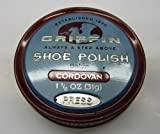 GRIFFIN Leather Shoe Polish Cordovan 1.125 oz Made in The USA Shoe Shine, Polish, Restore