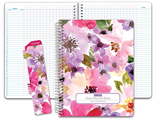 Class Record Book Unstructured.set it up to record grades your way! 40 student names (Excello - Spring Floral)