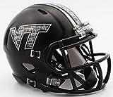 Riddell NCAA Virginia Tech Hokies Helmet Mini SpeedHelmet Replica Mini Speed Style Matte Black, Team Colors, One Size