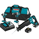 Makita XT328M 4.0 Ah 18V LXT Lithium-Ion Brushless Cordless Combo Kit, 3 Piece