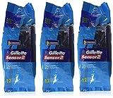 Gillette Sensor2 Disposable Razors 12 ea.(Pack of 3)