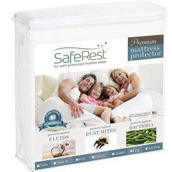 SafeRest Queen Size Premium Hypoallergenic Waterproof Mattress Protector – Vinyl Free