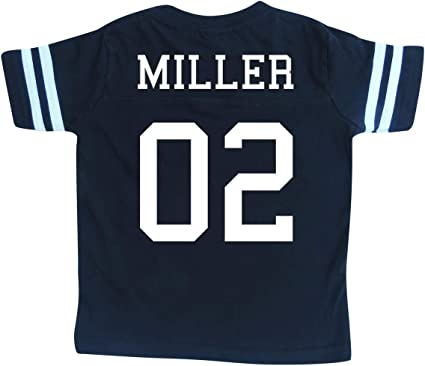Amazon Com Custom Cotton Football Sport Jersey Toddler Child Personalized With Name And Number Clothing