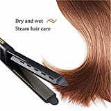 SayhrFour-Gear Ceramic Tourmaline Ionic Flat Iron Hair Straightener for Women Black