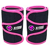 Fitru Premium Arm Trimmers for Men & Women | Increase Sweating & Circulation | Like A Body Wrap Sauna Waist Trainer for Your Arms (Pink, M: 16' X 5.25')
