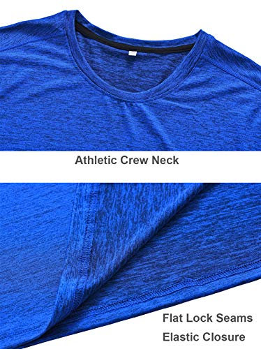 5 Pack Men's Active Quick Dry Crew Neck T Shirts | Athletic Running Gym Workout Short Sleeve Tee Tops Bulk 18 Fashion Online Shop gifts for her gifts for him womens full figure