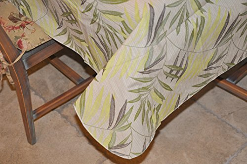 Covers For The Home Deluxe Elastic Edged and Drop Stitched Edged Flannel Backed Vinyl Tablecovers