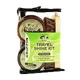 GRIFFIN Travel Shoe Shine Kit - Includes Black Shoe Polish, Brown Shoe Polish, Sponge Applicators, Shoe Shine Cloth, and Shoe Shine Brush - Made in the USA