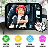 Baby Car Mirror for Back Seat - Full View Infant in Rear Facing Car Seat with Crystal Clear Safety Shatterproof 360 Degree Adjustable Strong Joint