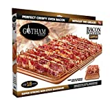 Gotham Steel 1937 Bonanza XL Healthier Perfectly Crispy Oven-Bacon Drip Rack Tray with Pan with Nonstick Easy Clean Surface - As Seen on TV