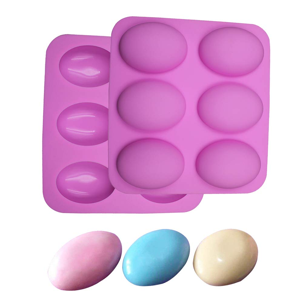 Silicone Mold for Handmade Soap 6 Cavity Goose Egg - Set of 2
