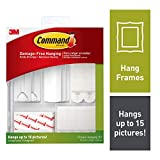 Command 17213-ES Kit Hangs up to 15 Pictures, 38 Piece, White