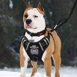 TIANYAO Big Dog Harness No-Pull Dog Vest Set Reflective Adjustable Oxford Material Pet Harness for Large Dogs with Leash and Collar Walking Training and Hiking