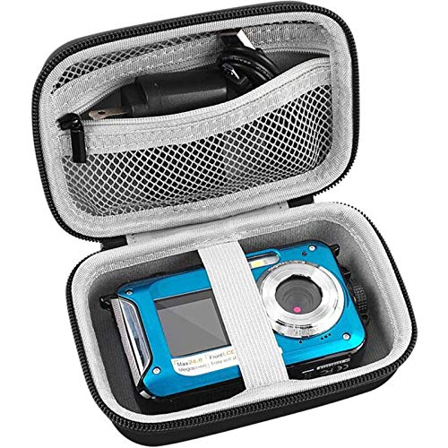 Digital-Camera-Case-Compatible-with-YISENCE-AbergBest-21-Mega-Pixels-27-LCD-Rechargeable-HD-Canon-PowerShot-ELPH-180-190-Sony-DSCW800-DSCW830-Kodak-PIXPRO-Digital-Camera-with-SD-Card-and-Cable
