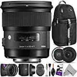 Sigma 24mm F1.4 Art DG HSM Lens for Canon DSLR Cameras w/Sigma USB Dock & Advanced Photo and Travel Bundle