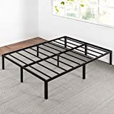 Best Price Mattress Queen Bed Frame - 14 Inch Metal Platform Beds w/ Heavy Duty Steel Slat Mattress Foundation (No Box Spring Needed), Black