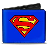 Buckle-Down PU Bifold Wallet - Superman Blue