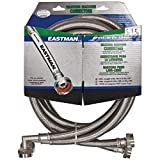 Eastman 41065 Stainless Steel Washing Machine Hose with Elbow, 5 Ft Pair, Silver (Renewed)