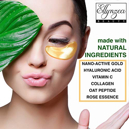 (24 PAIRS) Rejuvenating Under Eye Mask for Puffy Eyes - Dark Circles Under Eye Bags Treatment - 24k Gold Anti-Aging Under Eye Patches - Under Eye Pads w/Hydrating Gel - Wrinkle Care for Women and Men 5