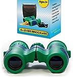 Kidwinz Original 8x21 Kids Binoculars Set - High Resolution - Real Optics - Shock Proof - Bird Watching - Presents for Kids - Children Gifts - Boys and Girls - Outdoor Play - Hunting - Hiking