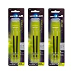 uni-ball Jetstream RT Ballpoint Pen Refills, Bold Point (1.0mm), Black, 6 Count