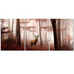 Foggy Forest Elk Wall Art
